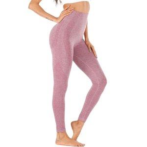 Femmes taille haute leggings Pantalon de yoga transparente séchage rapide pour le sport Fitness WHShopping