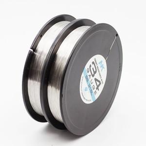 NK SS316L 34ga 36ga 38ga 40ga 42ga 44ga runder Draht 1000ft Spule elektrischer Widerstandsdrahtspule Edelstahldraht für e cig-Zerstäuberdocht