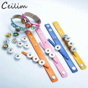 Heißer Verkaufs-PU-Leder-Armband-Armband-Schmucksachen 18mm-Verschluss-Knopf-Armband handgemachtes echtes Wrap Charm Armband für 18mm DIY Schnellknopf Schmuck