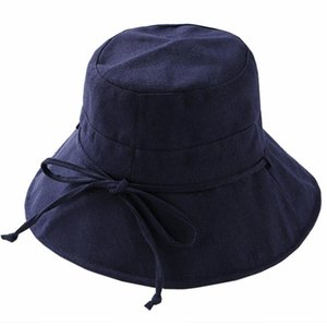 Hat Ladies Summer Cloth Hat Solid Color Cotton and Linen Fisherman Hat Bowl Cap Folding Outdoor Sunscreen Along The Visor