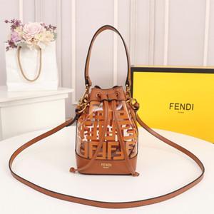 bayanlar 12x18x10cm için kadın ve erkek deri moda omuz çantası için Mini Klasik kova çantalar