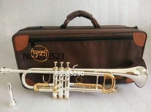 Bach Tromba originale placcato in argento GOLD KEY LT180S-72 Flat Bb Tromba professionale tromba Strumenti musicali Top in ottone