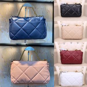 2020 kadın lüks tasarımcı cüzdan Çanta moda Woc çanta 19 maxi flep çanta tasarımcısı crossbody torba Üç renkli zincir çanta omuz çantaları
