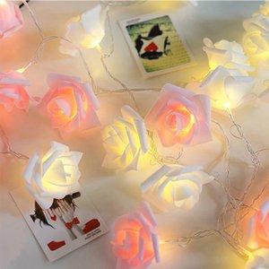 1,5 / 3 / 4,5 / 6M LED Garland artificielle Bouquet de fleurs s de mousse rose de fée pour la Saint-Valentin décoration de mariage