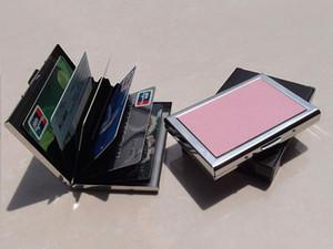Porta biglietti da visita Cassa RFID in acciaio inox Slim metallo della carta di credito di caso per gli uomini di carta di credito titolari di metallo Il raccoglitore di credito MPB020