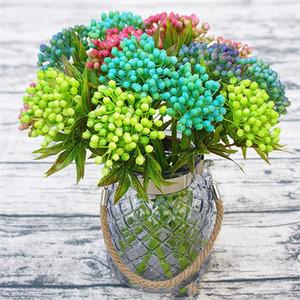 الأفرع الفاكهة العصارة الخضراء الغطاء النباتي النبات ستريت اليدوية DIY المواد تقليد زهرة الاصطناعي الزهور