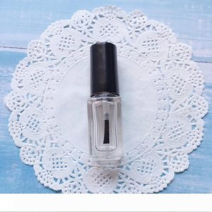 B 5ml Mini liberi quadrati di vetro smalto bottiglia vuota con la spazzola trasparente smalto contenitori WB1345