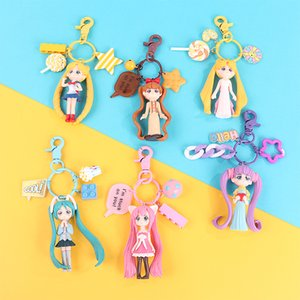 Creative Macarons Cartoon Sailor Moon Kawaii Keychain Couple voiture Porte-clés Sac à dos Hanging cadeau Bijoux mignon Girly Fashion