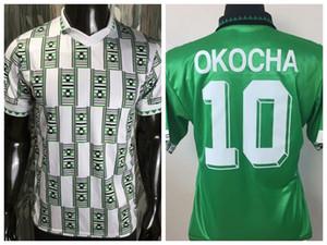 1994 Nigeria Retro Jersey de fútbol Okocha 94 Camisa de fútbol para el hogar S-2XL