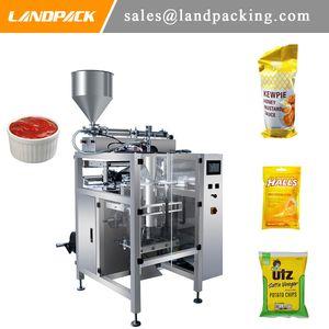 Ketchup Mayonnaise Vinaigrette Automatique Vertical Forme Remplir Joint Machine Sauce Liquide Sachet Emballage Machine Prix