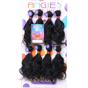 blended weave hair MIX bulks weft blended 8pcs bundle Kinky curly hair extension 10inch short human mix synthetic braiding hair for marley
