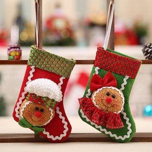Meias de Natal Adorável Meias 2018 Ano Novo Papai Noel Doces Saco de Presente Xmas Tree Decor Festival Party Supplies