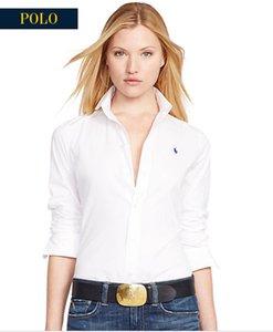 Новая осень зима ЖЕНСКАЯ с длинными рукавами хлопок рубашка чистых мужского случайным POLO по rahpl ли рубашки моды Оксфорда рубашка социального бренда WOMENS Parkas