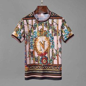 2020 Paris-Fans T-Shirt der Männer Damen des Sommers beiläufige helle T-Shirt Baumwolle Buchstaben Mode Kurzarm-Medusa T-Shirt