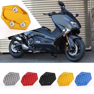 Soporte lateral de la motocicleta de aleación de aluminio CNC Negro para Yamaha Tmax 530 XP Mats Bastidor