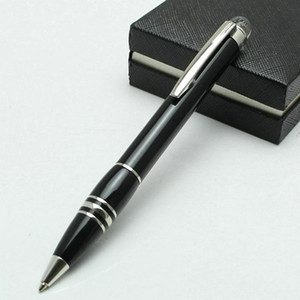 Estudante preto Atacado de alta qualidade Resina / Matel caneta esferográfica Escritório Ink 0.7MM Nib MontlB Marca Engrave MB com Número de Série Nova