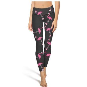Flamingo wear pink shoesFashion Ladies Custom Yoga Pants Pockets Casual Tight Suitable for Run shoes Love Flamingos Summer Flamingo The