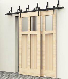 5/6 / 6,6 pies de madera de derivación de hardware puerta del granero deslizamiento Flecha Estilo pista deslizante kit determinado