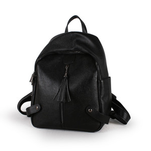 Art2019 Leather Genuine Woman Baotou Layer Cowhide Litchi Grain Both Shoulders Package Trend Joker Ma'am Single Shoulder Backpack