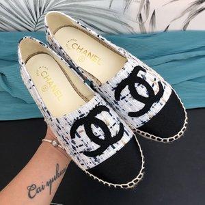Womens Alpercatas Pescador Casual Cheques sapatos Grids Stripped Deslizamento da lona Em Snickers Skate Ballet Flats Mulher Loafers Shoes