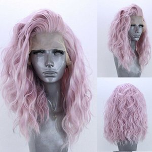 Synthetic Lace Front Wigs for Sale Body Curly Loose Water Yaki Synthetic Hair Wigs for Women K37