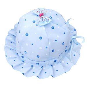 Bebé recém-nascido menina Verão Bucket Sun Moda Dot Imprimir Ruffle Fisherman Hat Confortável respirável macio e elástico