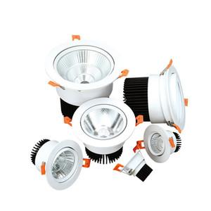 AC110V-220V 3W 7W 18W 30W пятно света Украшение потолка вниз лампа освещения Super Bright утопленный СИД вниз свет теплый белый