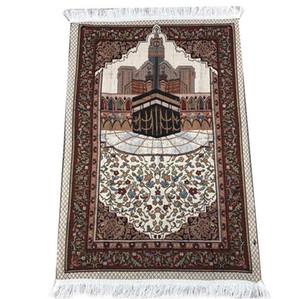 Commercio all'ingrosso di preghiera islamica musulmana sottile Mat Salat Musallah Prayer Rug Tapis Carpet Tapete Banheiro islamica Pregare Mat 70 * 110 centimetri