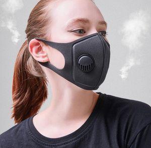 التنفس صمام قناع أقنعة الكبار رغوة الإسفنج الوجه PM2.5 التلوث الوجه الفم قناع التنفس مع نطاق واسع أقنعة الأشرطة قابل للغسل غطاء GGA3518-5