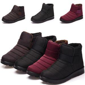 2019 intera vendita uomini e donne d'inverno scarponi da neve nero viola, tenere al caldo impermeabile traspirante formatori pattini del cotone taglia il trasporto libero 35-46