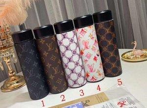 Imprimer Louis Vuitton Tainless Acier Vide Thermos Tasse Pull Can Coke Bouteille D'Eau Tasse Flexible Tasses Voyager Thé Tasses