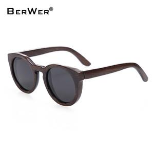 BerWer Óculos de sol para homens e mulheres polarizados nova moda óculos de sol de madeira de alta qualidade armação de bambu em estoque