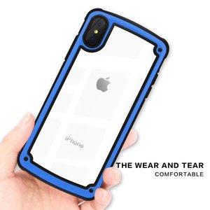 Pour Iphone 6 7 8 Plus X XR XS MAX TPU PC Hybride Anti-Vibrations Antichoc Protection Téléphone Protection Cover
