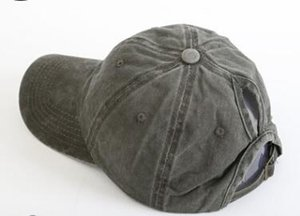 DHL Washed ponytail Baseball Cap Vintage Dyed Adjustable Unisex Classic Plain sport outdoor summer Dad Hat Snapback nd