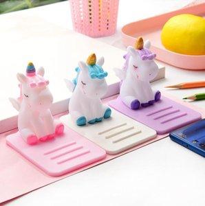 Unicorn Handy-Halterung 4 Farben Karikatur-Telefon-Halter Stand Dekoration Auto-Desktop-Multifunktions-Einstellbare Halterung OOA7255