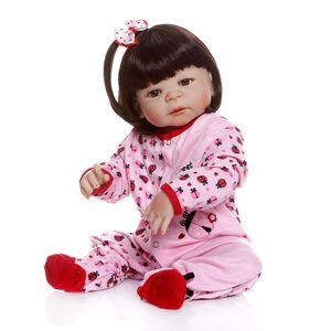 New NPK 56CM 0-3M real baby size reborn baby girl toddlerfull body silicone bebe doll reborn Bath toy waterproof