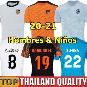 19 20 Valencia CF camisetas de fútbol RODRIGO 19 20 PAREJO KANG EN GAMEIRO Camiseta de futbol GAYA GUEDES C.SOLER hombres kit para niños uniformes