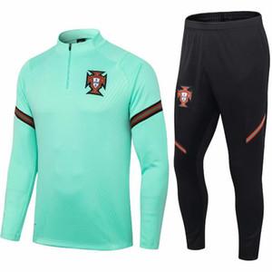 20-21 Portogallo di nuova stagione brasil Suit Maglia piedi Tuta Adulti Tute da jogging Survêtement Training Uomo Kit Equipe