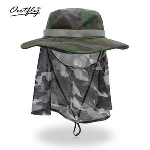 Nuevo verano Camo pescador ocasional de cubo que acampa yendo de viaje pesca montañismo sombrero sombrilla Bonnie Hat para hombres de las mujeres