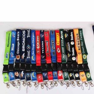 32 American Style Football Team multiuso Cordino cordicella del telefono mobile portachiavi cinghie del collo della carta di identificazione cordino