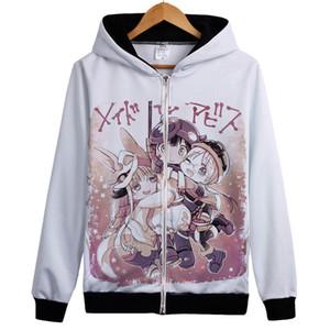 Made in Abyss Moletom Com Capuz Manga Longa Unisex Camisola Feito em Abyss cosplay casaco com capuz Nanachi cosplay costum outwear fit