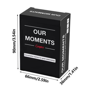 OUR MOMENTS Couples: 100 Thought Provoking Conversation Starters for Great Relationships-Fun Conversation Cards Game for Couples
