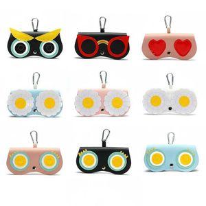 Ins super chaud Lunettes de soleil Sac lunettes de mode portable Cas mignon Lunettes de soleil Housse de protection étui en cuir PU Plus de couleurs