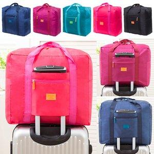 Portátiles plegable equipaje bolsas de viaje impermeable unisex bolsos de los bolsos de viaje Duffle comestibles almacenamiento en el hogar Almacenamiento Organización DHL WX9-1615