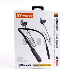 SY-wave BCNX001 Bluetooth Kopfhörer Noise Cancelling Earphones Drahtlose Sportkopfhörer mit Mikrofon-Lautstärkeregler Kostenloser Versand