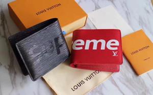 Paris xadrez Designers estilo mens carteira homens famosos de luxo bolsa especial lona múltipla pequena carteira curto bifold com caixa