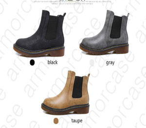 News Women's Spring Tricolor PU Leather Female Ankle Martin Ankle Boots Brand Motorcycle Smooth Shoe Leather Boots Size 34-43 D31102