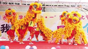 Día de los niños Lion Dance Disfraz de mascota de lana pura Southern Day School Cumpleaños Apertura Boda Parade Etapa Al Aire Libre Folk Chinese