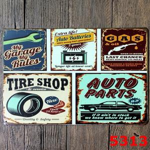 Placas de metal Placas de lata Car Reparação loja de pôster vintage Lady Motor placas de ferro decorativa Bar Club Wall Decor 39 projetos LQP-YW3191