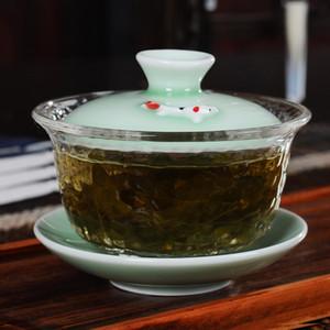 Creative verre céramique Gaiwan Porcelaine Teaware Sets Teapot Teaset FishTea tasses de Soupière Cérémonie